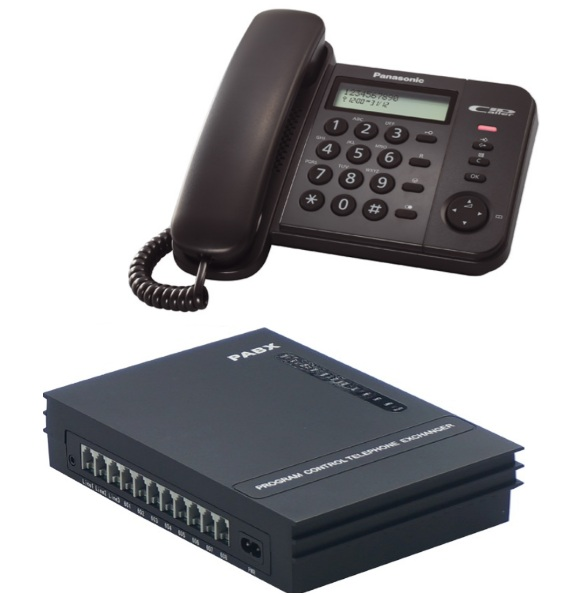 Centralino telefonico 3 linee 8 interni kit da 1 a 8 ...