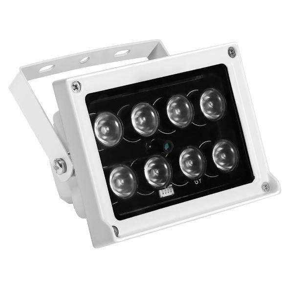 Illuminatore infrarosso 8 leds array da esterno ebay for Led alta efficienza